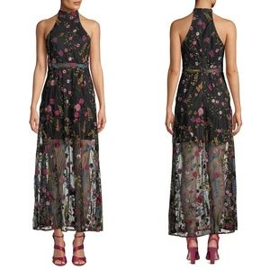 Betsey Johnson All Over Embroidered Maxi Dress